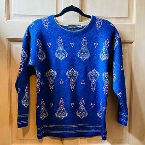 Vintage Cobalt Blue Gypsy Sweater